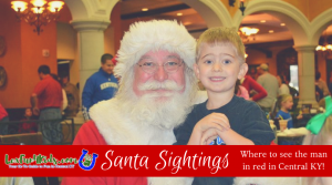 Santa Fun in Central KY (Breakfast, photos, train rides!)