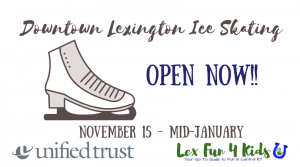 Downtown Lexington Triangle Park Ice Skating