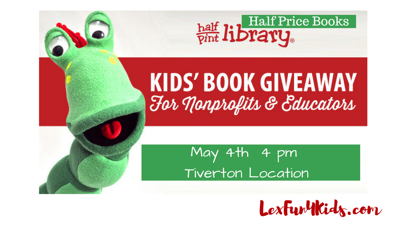 Half Pint Book Giveaway At Half Price Books 2017 • LexFun4Kids
