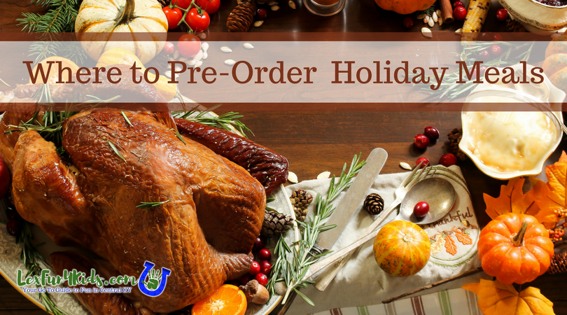 holiday pre order meals