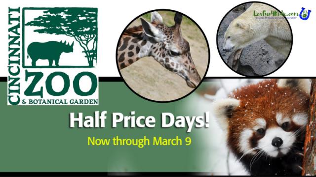 Half Price Days Cincinnati Zoo
