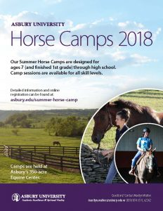 Equine Summer Camps at Asbury University 2018