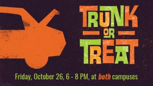 Trunk or Treat at Immanuel Baptist - TC & Armstrong Mill Campuses