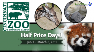 Half Price Days at the Cincinnati Zoo 2019