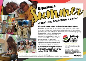 The Living Arts and Science Center Camps 2019