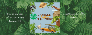 "4-H Summer Camp 2019 ""Jungle Safari"""