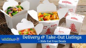 Delivery/Carry Out + Kids Eat Free Listings