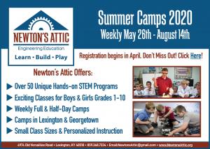 Newton's Attic Summer Camps 2020