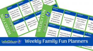Weekly Family Fun Planners