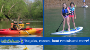 Where to have fun on the water in Central KY!  Kayak, canoe, paddleboard, boat rentals and more!