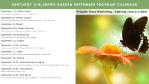 Sept Children's Garden Programming