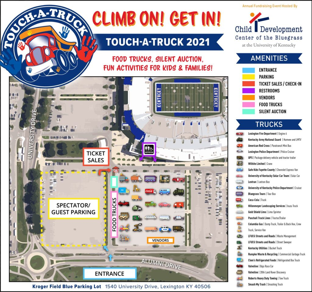 Touch a Truck 2021 Map